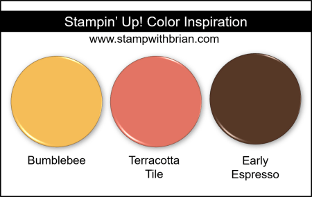 Stampin' Up! Color Inspiration - Bumblebee, Terracotta Tile, Early Espresso