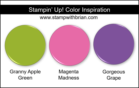 Stampin' Up! Color Inspiration - Granny Apple Green, Magenta Madness, Gorgeous Grape