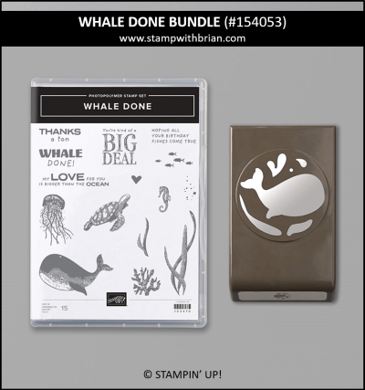 Whale Done Bundle, Stampin Up! 154053