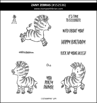 Zany Zebras, Stampin Up! 152536