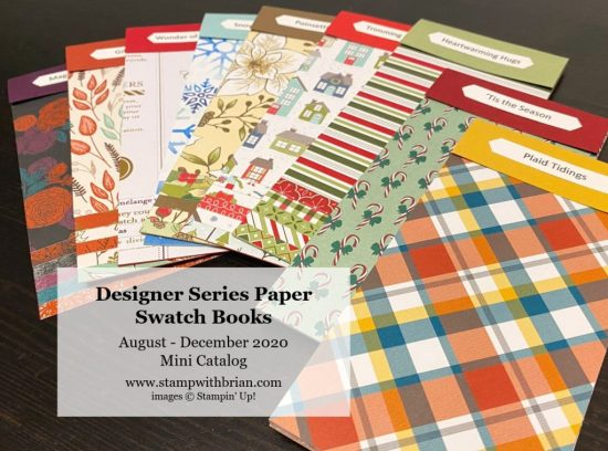 August - December 2020 Mini Catalog Swatch Books, Stampin Up!, Brian King a