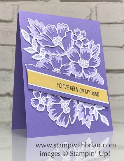 Many Layered Blossoms Dies, Stampin Up!, Brian King