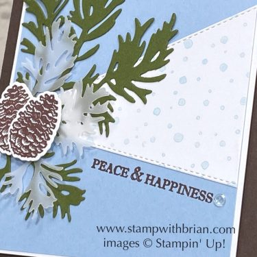 Peaceful Boughs, Itty Bitty Christmas, Stampin Up!, Brian King