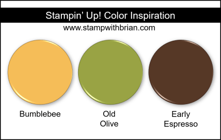 Stampin' Up! Color Inspiration - Bumblebee, Old Olive, Early Espresso