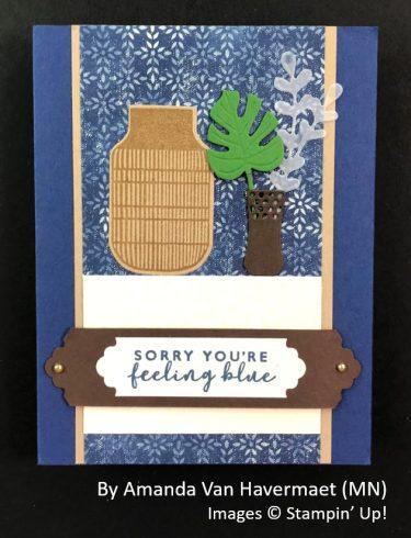 by Amanda Van Havermaet, Sending Love One-for-One Card Swap, Stampin Up!