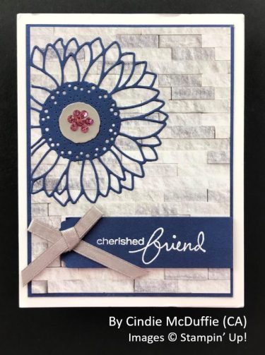 by Cindie McDuffee, Sending Love One-for-One Card Swap, Stampin Up!