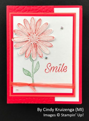 by Cindy Kruizenga, Sending Love One-for-One Card Swap, Stampin Up!