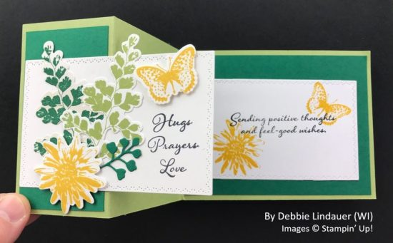 by Debbie Lindauer, Sending Love One-for-One Card Swap, Stampin Up! 2