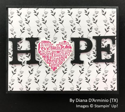 by Diana D'Arminio, Sending Love One-for-One Card Swap, Stampin Up!