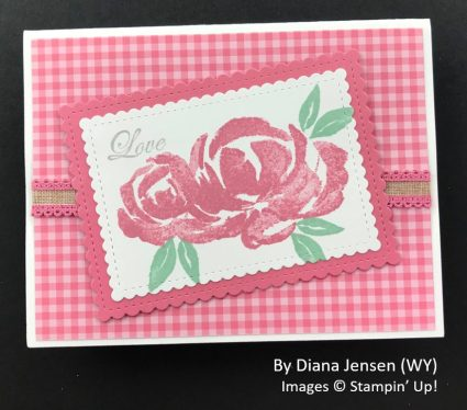 by Diana Jensen, Sending Love One-for-One Card Swap, Stampin Up!