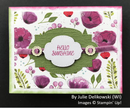 by Julie Delikowski, Sending Love One-for-One Card Swap, Stampin Up!