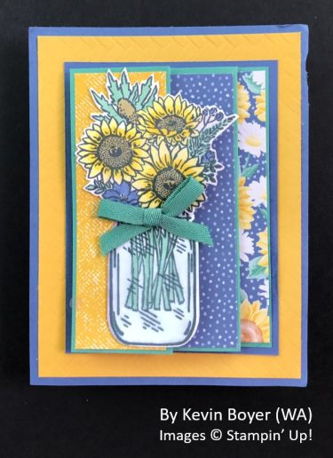 by Kevin Boyer, Sending Love One-for-One Card Swap, Stampin Up! 1