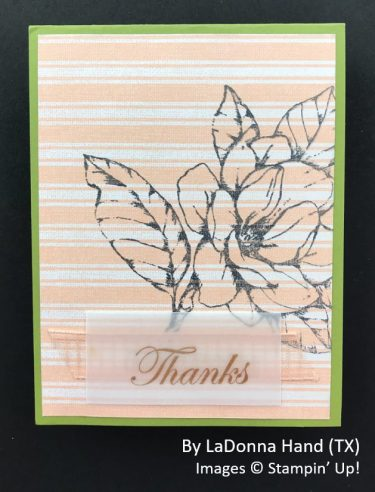by LaDonna Hand, Sending Love One-for-One Card Swap, Stampin Up!