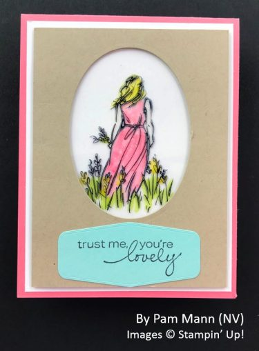 by Pam Mann, Sending Love One-for-One Card Swap, Stampin Up!