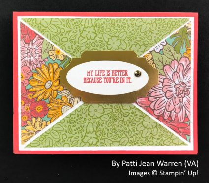 by Patti Jean Warren, Sending Love One-for-One Card Swap, Stampin Up!