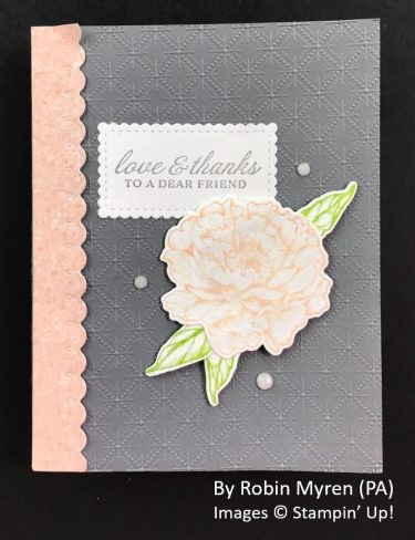 by Robin Myren, Sending Love One-for-One Card Swap, Stampin Up!