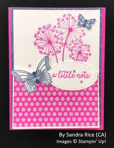 by Sandra Rice, Sending Love One-for-One Card Swap, Stampin Up! 1