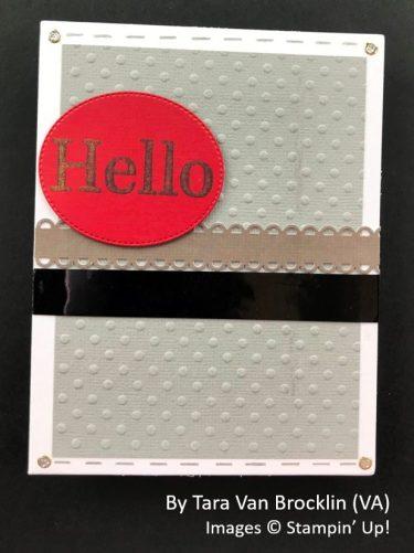 by Tara Van Brocklin, Sending Love One-for-One Card Swap, Stampin Up!