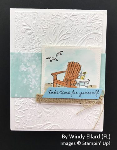 by Windy Ellard, Sending Love One-for-One Card Swap, Stampin Up!