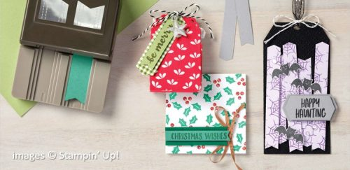 Banners Pick a Punch Samples by Stampin Up!