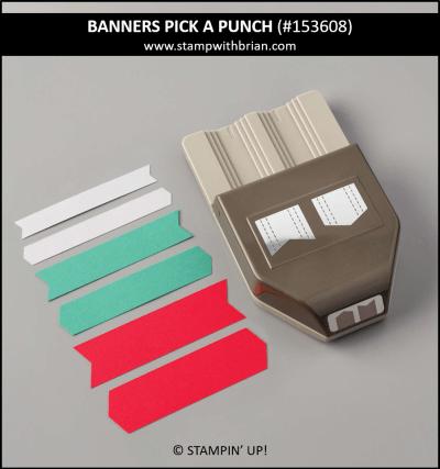 Banners Pick a Punch, Stampin Up! 153608