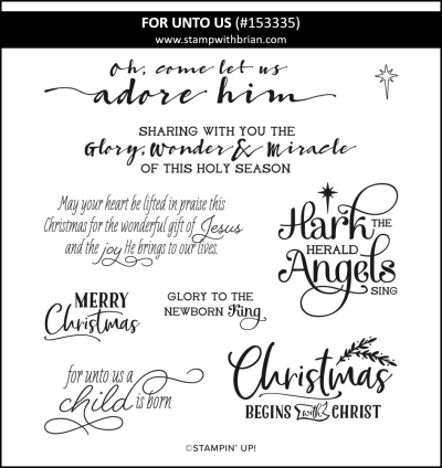 For Unto Us, Stampin Up! 153335