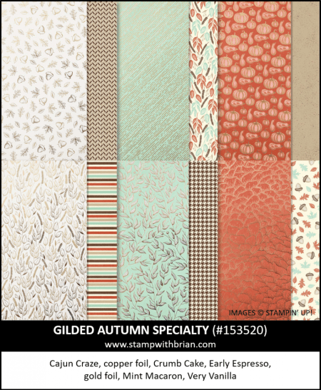 Gilded Autumn Specialty Designer Series Paper, Stampin Up! 153520