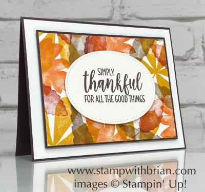 Love of Leaves, Country Home, Stampin Up!, Brian King