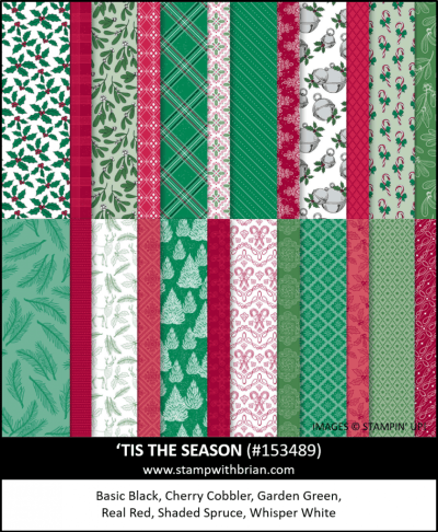 Tis the Season Designer Series Paper, Stampin Up! 153489