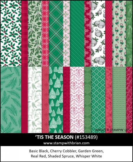 Tis the Season Designer Series Paper, Stampin Up! 153489