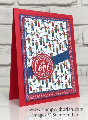 Wrapped in Christmas, Trimming the Town Designer Series Paper, Stampin Up!, Brian King