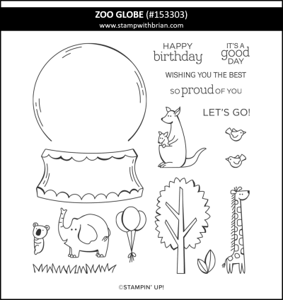 Zoo Globe, Stampin Up!, 153303