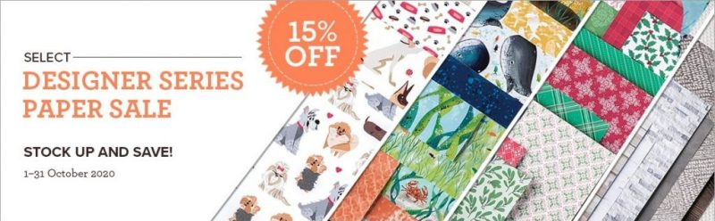 Designer Series Paper Sale Banner