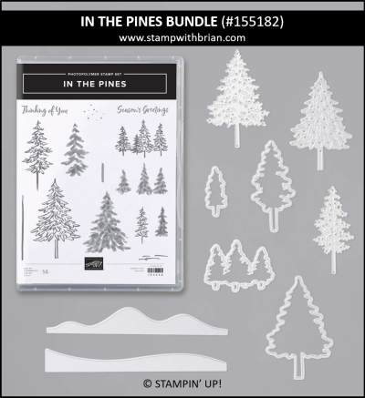In the Pines Bundle, Stampin Up! 155182