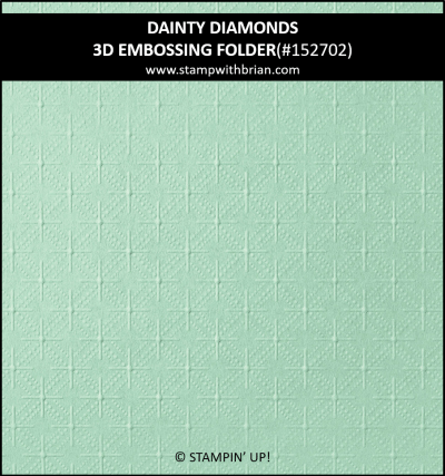 Dainty Diamonds 3D Embossing Folder, Stampin Up! 152702