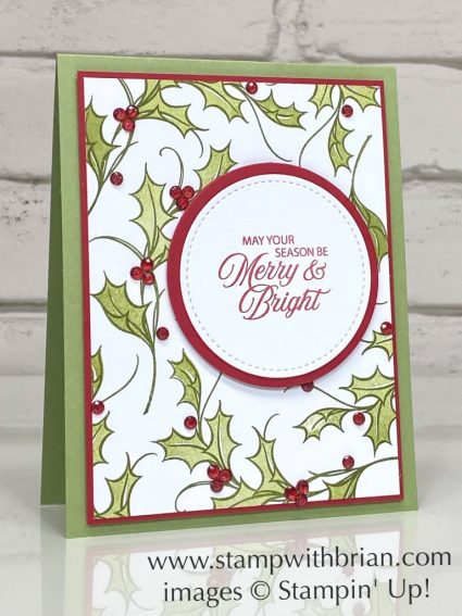 Joyful Holly, Wonderful Gems, Stampin Up!, Brian King