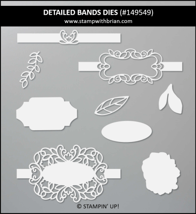Detailed Bands Dies, Stampin Up! 149549