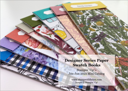 Jan-Jun 2021 Designer Series Paper Swatchbooks, Stampin Up!, Brian King