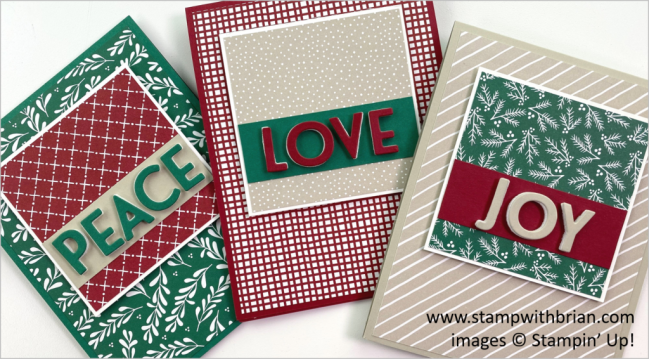 Peace Love and Joy with Classic Christmas, Stampin Up! Brian King