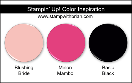 Stampin Up! Color Inspiration - Blushing Bride, Melon Mambo, Basic Black