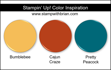 Stampin Up! Color Inspiration - Bumblebee, Cajun Craze, Pretty Peacock
