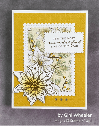 by Gini Wheeler, Stampin Up! Christmas card