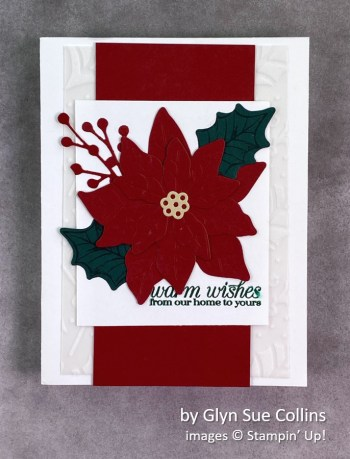 by Glyn Sue Collins, Stampin Up! Christmas card