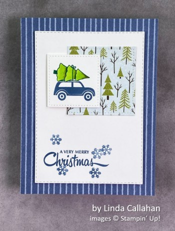 by Linda Callahan, Stampin Up! Christmas card