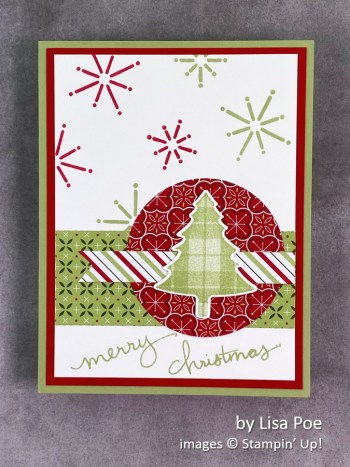 by Lisa Poe, Stampin Up! Christmas card
