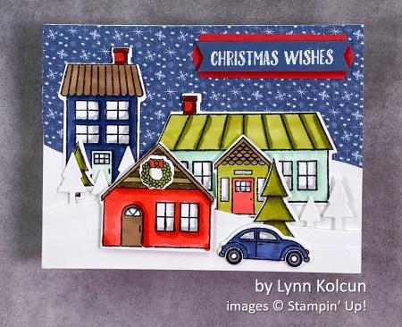 by Lynn Kolcun, Stampin Up! Christmas card