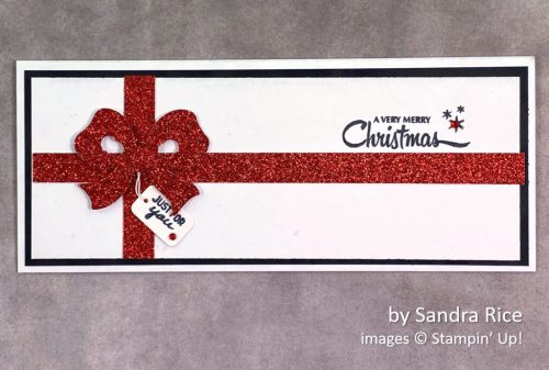 by Sandra Rice, Stampin Up! Christmas card