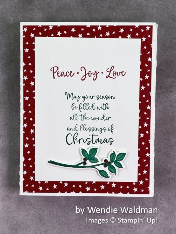 by Wendie Waldman, Stampin Up! Christmas card 1