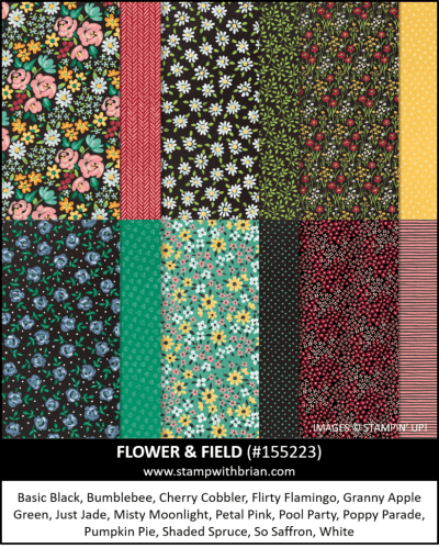 Flower and Field Designer Series Paper, Stampin Up!, 155223