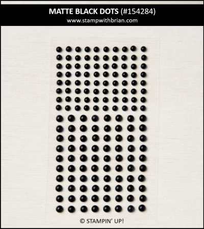Matte Black Dots, Stampin Up!, 154284